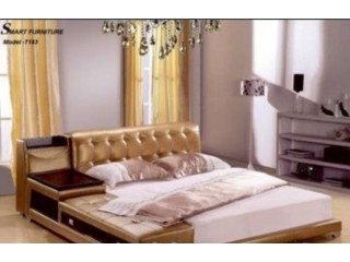 Smart Leather Design Bed Model -7183