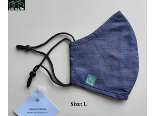 Face Mask made of Antivirus Cotton Woven Fabric -MU CARE