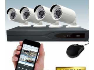 CCTV System 4 pcs Camera & Necessary Accessories