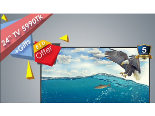 "Genuine 24"" LED TV + Gifts"